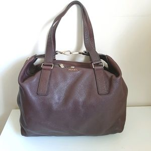 Fossil Dark Brown Leather Satchel Bag